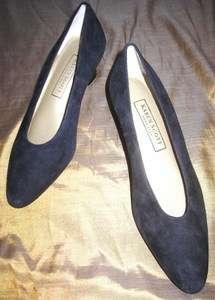 NWOB Karen Scott Soft Step Navy Blue Mid Heel Dress Shoes 8B