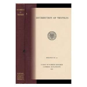 , Bureau of Business Research Harvard University  Books