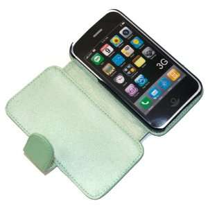 Light Green Side Flip Leather Case for iPhone 3G / 3GS