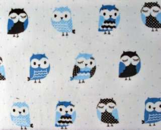 OWLS BIRDS WOODS CUDDLE CHENILLE KNIT SEWING 60 MATERIAL BTY