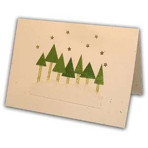 Sparkling Christmas Trees Greeting Card