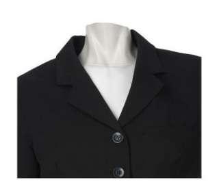 LOGO by Lori Goldstein Notch Collar Blazer BLACK/REG.6