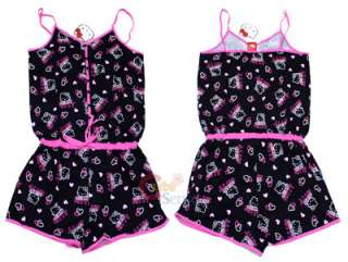 Sanrio Hello kitty Sleepwear PJ Hole In One w/Pants BK