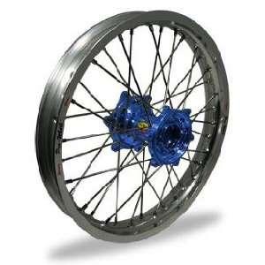 Pro Wheel MX Rear Wheel Set   19x2.15   Silver Rim/Blue Hub 24 12031