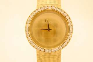 Christian Dior Extra Large Full 18k Yellow Gold And Diamond Wristwatch