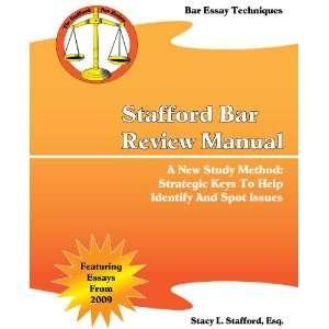 Bar Review Manual (9781450701433) Esq. Stacy L. Stafford Books