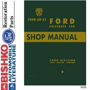 1949 1950 1951 FORD Car Shop Service Manual Book CD