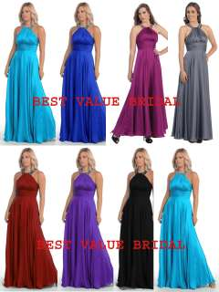 LONG BRIDESMAIDS COCKTAIL DRESSES HOMECOMING EVENING FORMAL 11 Colors