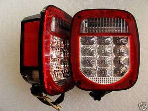 Jeep TJ LED Tail Light Clear Lens and RED Lights NEW
