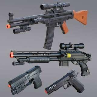 AIRSOFT GUN AK 47 SHOTGUN HAND GUN PISTOLS AIR SOFT GUNS RIFLE 1K BBS