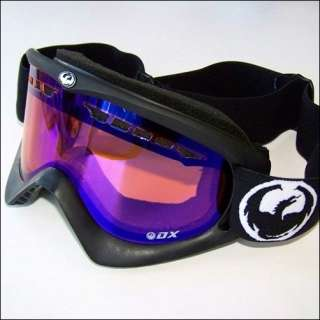 Dragon DX Snow/Ski Goggles Coal (Black)/Blue Ion NEW