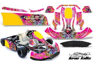 AMR KART GRAPHICS KIT CRG NEW AGE BODY PARTS ED HARDY