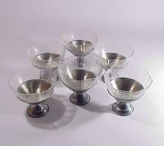 Macbeth Evans Depression Glass Sherbet Bowl Metal Base