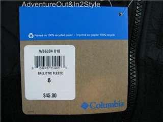 Columbia Sportswear Ballistic Boys Fleece Jacket Sz 8 YOUTH BLACK