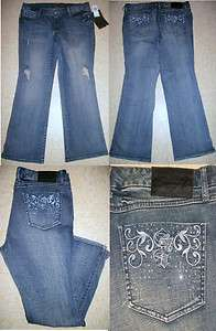 NWT SEVEN 7 LUXE EMBROIDERED CRYSTAL FLARE JEANS WOMENS PLUS SIZE 18