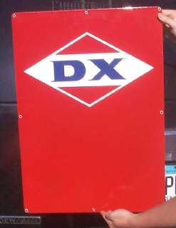 Original Old DX Porcelian Oil Gasoline Pump Sign Gas service station