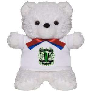 Teddy Bear White Shamrock Pub Luck of the Irish 1759 St Patricks Day