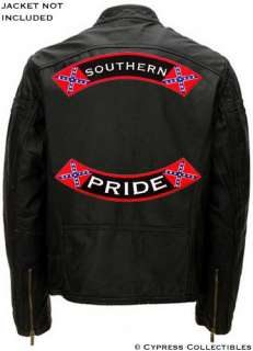 SOUTHERN PRIDE embroidered patch CONFEDERATE FLAG LARGE