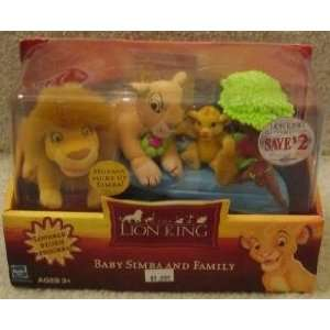 2002 HASBRO LION KING BABY SIMBA AND FAMILY MUFASA,SARABI