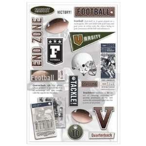 Karen Foster Design Football Phrase Stickers Arts, Crafts
