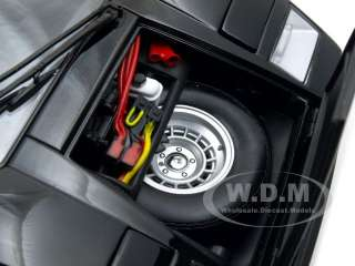 car model of Lamborghini Countach LP400 Black die cast car by Kyosho