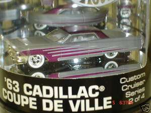 Hot Wheels Custom Cruisers 63 Cadillac Coupe De Ville