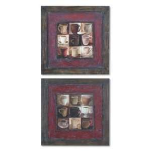 Coffee Wine Kitchen Art COFFEE CUPS I / II   S/2