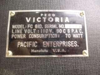 Vintage Peco Victoria FC 61D Portable Tube Reel to Reel Tape Recorder