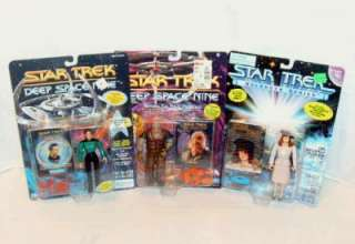 VINTAGE LOT of (3) STAR TREK ACTION FIGURES NEW SEALED.