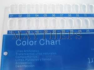 Color Display Chart Nail Art Acrylic UV Pedicure Polish