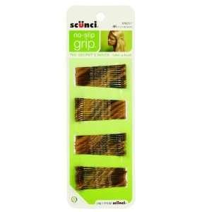 (2 Pack) Scunci No Slip Grip Bobby Pins Natural Brown