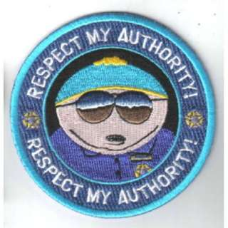 South Park Officer Cartman Respect My Authority Patch, NEW UNUSED