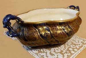 Sarreguemines French Austrian Mojolica Art Pottery Centerpiece Bowl