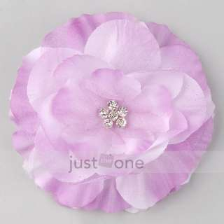 Cute Baby Kids Girls Lady Crystal Center Hair Decor Brooch Hat Head