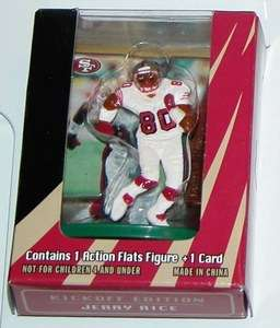 JERRY RICE SAN FRANCISCO 49ERS TOPPS FLATS 3 ACTION FIGURE & PLAYER