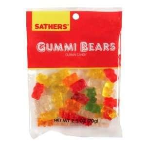 Sathers Gummi Bears (Pack of 12)  Grocery & Gourmet Food