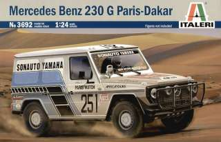 ITALERI  Mercedes Benz 230 G Paris Dakar  124 Scale