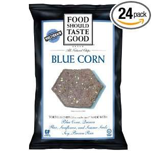 Food Should Taste Good Blue Corn Tortilla Chips, 1.5 Ounce (Pack of 24