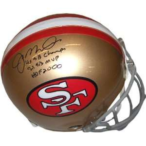 Joe Montana San Franscisco 49ers Autographed Authentic Proline Helmet