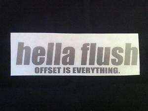 hella flush Decal Sticker Silver JDM VIP CTR ITR S2K
