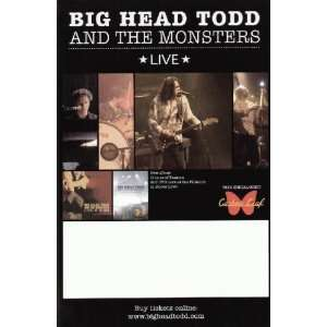 Big Head Todd Monsters 2004 Concert Tour Blank Poster