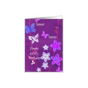 Happy 60th Birthday Card, Flowers Card: Toys & Games