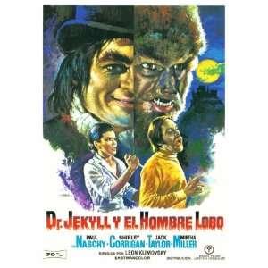 Dr. Jekyll y el Hombre Lobo (1972) 11 x 17 Movie Poster Spanish Style