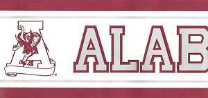 ALABAMA ROLL TIDE WALLPAPER BORDER