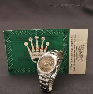 ROLEX OYSTER PERPETUAL DATE AUTOMATIC CHRONOMETER CERTIFIED MENS WATCH