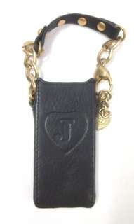 JUICY COUTURE Black Gold Tone Hardware Ipod Nano Case