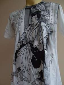 Emperor Eternity Dragon Samurai Ronin Men Tattoo T shirt White M L XL