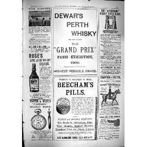 1900 Advertisement Dewars Whisky Beechams Pills RoseS