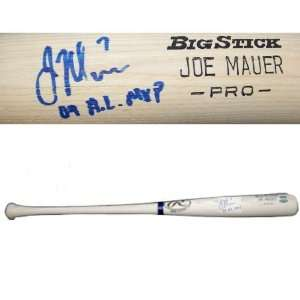 Joe Mauer Autographed Rawlings Big Stick Bat w/ Name