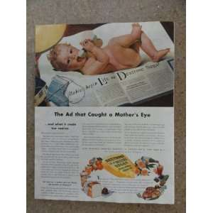 Dextrose Sugar ,Vintage 40s full page print ad (baby/the